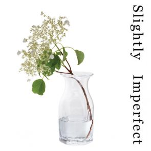 Finbarr Hexagonal Vase Clear 21cm - Slightly Imperfect