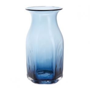 Finbarr Hexagonal Vase Ink Blue 21cm