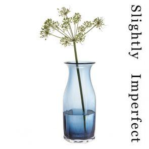 Finbarr Hexagonal Vase Ink Blue 26cm - Slightly Imperfect