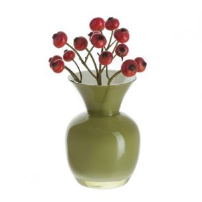 Little Treasures - Olive & White Vase