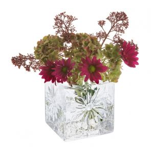 Marguerite Square Vase Clear