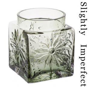 Marguerite Square Vase Olive Green - Slightly Imperfect