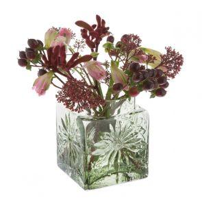 Marguerite Square Vase Olive Green