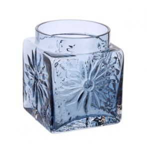 Marguerite Square Vase Ink Blue