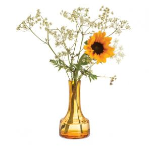 Contour Amber Low Vase