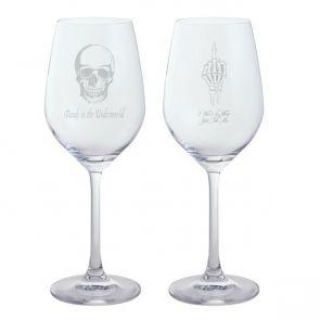 Jeffery West White Wine Glass, Set of 2 - Dandy in the Underworld