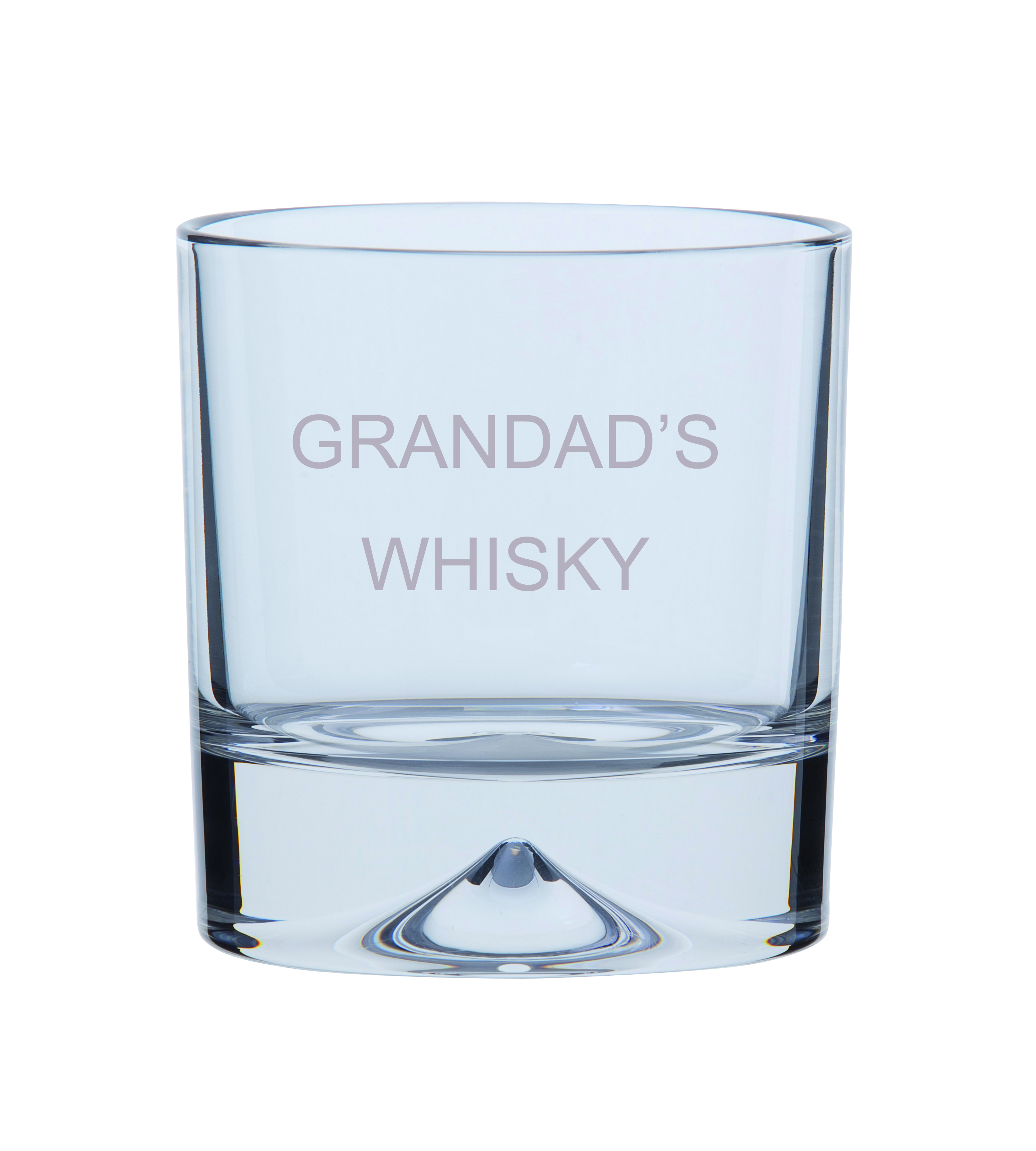Dartington GRANDADS WHISKY  Single Dimple Double Old Fashioned Whisky Glass