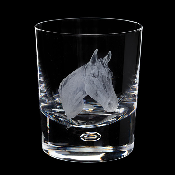 Dartington Engraved Horse Tumbler