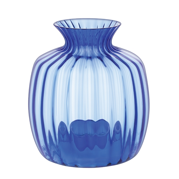 Dartington Cushion Large Vase Light Cobalt