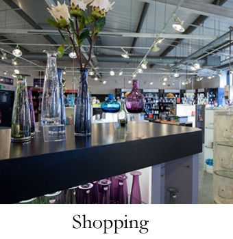 Shopping at Dartington Crystal