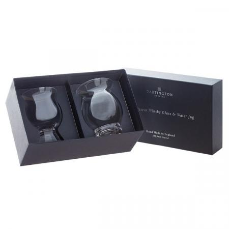 Connoisseur Whisky Glass and a Water Jug Gift Set
