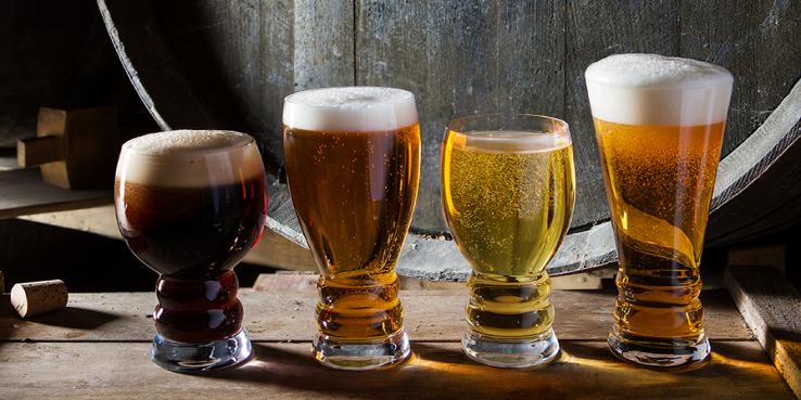 5 beer glasses for Oktoberfest