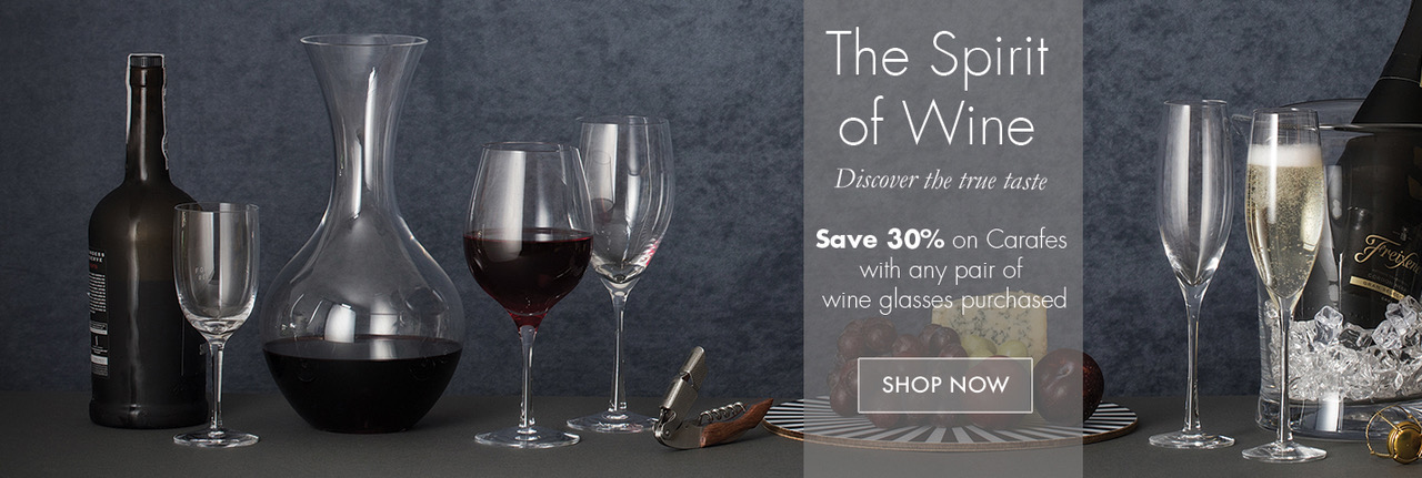 The Spirit of Wine - Save 30% on Carafes